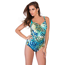 Buy Miraclesuit Sanibel Jungle Control Swimsuit, Turquoise Online at johnlewis.com