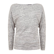 Buy Hygge by Mint Velvet Space Dye Top, White Marl Online at johnlewis.com