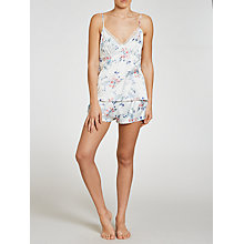 Buy John Lewis Satin Pastel Bloom Cami And Short Pyjama Set, Ivory Online at johnlewis.com