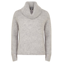 Buy Hygge by Mint Velvet Cropped Cowl Knit Jumper, Grey Online at johnlewis.com