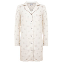 Buy Hygge by Mint Velvet Star Pyjama Boyfriend Nightshirt, Multi Online at johnlewis.com