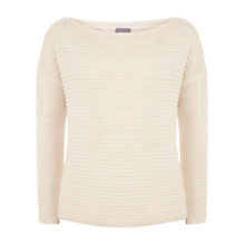 Buy Hygge by Mint Velvet Wavy Boxy Knit Jumper, Cream Online at johnlewis.com