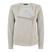 Buy Hygge by Mint Velvet Biker Cardigan, Grey Online at johnlewis.com