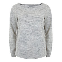 Buy Hygge by Mint Velvet Space Dye Sweatshirt, White Marl Online at johnlewis.com
