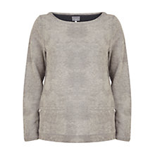 Buy Hygge by Mint Velvet Foil Sweatshirt, Grey Online at johnlewis.com