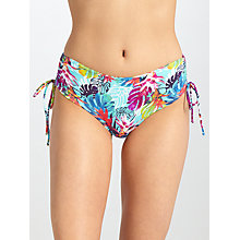 Buy John Lewis Mesquita Floral Ruched Shorts, Turquoise/Multi Online at johnlewis.com