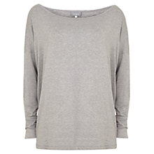 Buy Hygge by Mint Velvet Sequin Elbow T-Shirt, Silver Grey Online at johnlewis.com