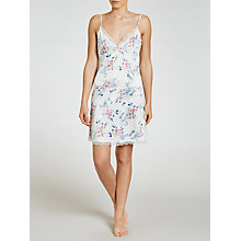 Buy John Lewis Satin Pastel Bloom Chemise, Ivory Online at johnlewis.com
