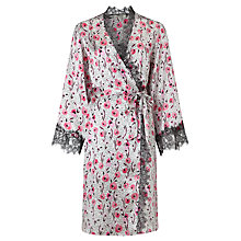 Buy Somerset by Alice Temperley Floral Animal Kimono Robe, Pink Multi Online at johnlewis.com