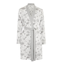 Buy John Lewis Botanical Print Robe, Grey/White Online at johnlewis.com