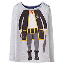 Buy Little Joule Boys' Jack Pirate T-Shirt, Grey Online at johnlewis.com