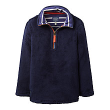 Buy Little Joule Boys' Woozle Half Zip Fleece, French Navy Online at johnlewis.com