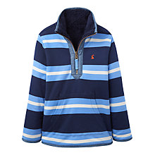 Buy Little Joule Boys' Thomas Bar Stripe Reversible Jumper, Blue Online at johnlewis.com
