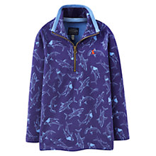 Buy Little Joule Boys' Dale Shark Top, Blue Online at johnlewis.com
