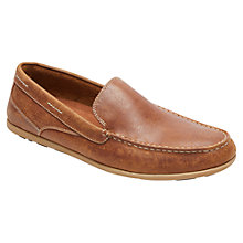 Buy Rockport Bennett Lane Slip-On Leather Loafers, Brown Online at johnlewis.com