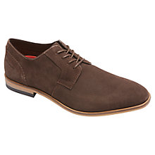 Buy Rockport Birch Lake Plain Toe Suede Oxford Shoes, Chocolate Online at johnlewis.com