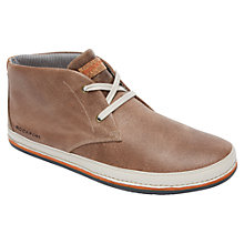 Buy Rockport Harbor Point Leather Lace-Up Chukka Boots, Chocolate Online at johnlewis.com