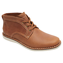 Buy Rockport Eastern Standard Leather Lace-Up Chukka Boots, New Caramel Online at johnlewis.com