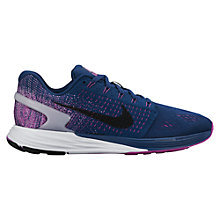Buy Nike LunarGlide 7 Women's Running Shoes, Blue/Purple Online at johnlewis.com
