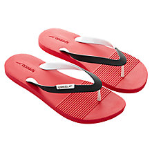 Buy Speedo Saturate II Men's Flip Flops, Red Online at johnlewis.com