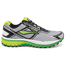 Buy Brooks Ghost 8 Men's Running Shoes, Silver/Green Online at johnlewis.com