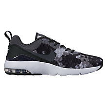 Buy Nike Air Max Siren Print Women's Trainers, Black/Grey Online at johnlewis.com