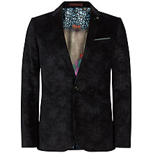 Buy Ted Baker Saghar Velvet Blazer, Navy Online at johnlewis.com