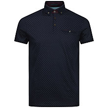 Buy Ted Baker Mendosa Print Polo Shirt, Navy Online at johnlewis.com