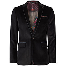 Buy Ted Baker Velveto Velvet Jacket, Navy Online at johnlewis.com