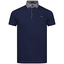 Buy Ted Baker Bennam Woven Collar Polo Shirt Online at johnlewis.com