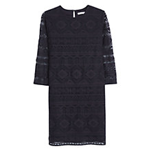 Buy Mango Ethnic Embroidery Dress, Black Online at johnlewis.com