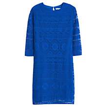 Buy Mango Ethnic Dress, Bright Blue Online at johnlewis.com