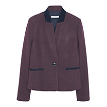 Buy Mango Houndstooth Wool Blazer, Dark Red Online at johnlewis.com