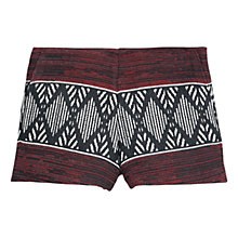 Buy Mango Printed Cotton Shorts, Dark Red Online at johnlewis.com