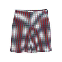 Buy Mango Geometric Pattern Skirt, Dark Red Online at johnlewis.com