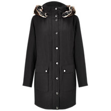 Buy Four Seasons Hooded Faux Fur Trim Parka, Carbon Online at johnlewis.com