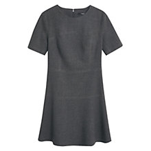 Buy Mango Fluted Hem Dress, Grey Online at johnlewis.com