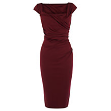 Buy Coast Alva Scuba Dress, Merlot Online at johnlewis.com