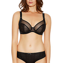 Buy Freya Hero Side Support Plunge Bra, Black Online at johnlewis.com