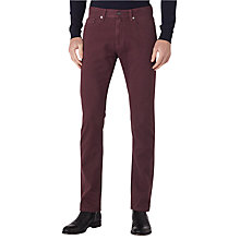 Buy Reiss Maurice Twill Slim Jeans, Bordeaux Online at johnlewis.com