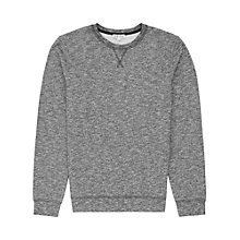 Buy Reiss Nickle Cotton Jersey Top, Grey Online at johnlewis.com