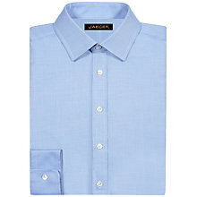 Buy Jaeger Cotton Satin Herringbone Shirt, Blue Online at johnlewis.com