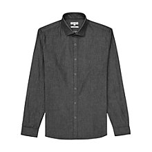 Buy Reiss Brooklyn Slim Fit Denim Shirt, Black Online at johnlewis.com