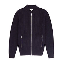 Buy Reiss Highway Ribbed Zip Cardigan Online at johnlewis.com