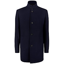 Buy Jaeger Mock Gilet Twill Overcoat, Navy Online at johnlewis.com