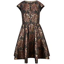 Buy Ted Baker Laurey Floral Jacquard Dress, Dark Red Online at johnlewis.com