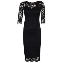 Buy Jolie Moi Lace Bodycon Midi Dress, Black Online at johnlewis.com
