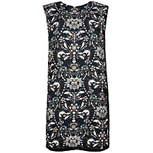 Buy Ted Baker Esmira Embellished Jewel Print Dress, Black Online at johnlewis.com