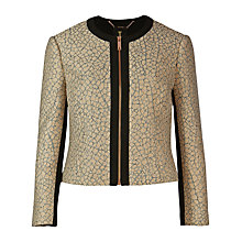 Buy Ted Baker Chamuse Texture Jacquard Jacket, Baby Pink Online at johnlewis.com