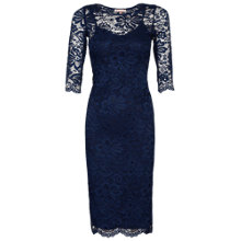 Buy Jolie Moi Lace Bodycon Dress, Navy Online at johnlewis.com
